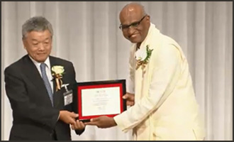 Catch a glimpse of Madhu Pandit Dasa's award acceptance at Nikkei Asia Prizes!