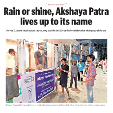 Akshaya Patra Serves 11 Crore Meals during the Pandemic