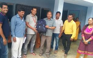 CGI distributes 130 bags to beneficiary school in Hyderabad